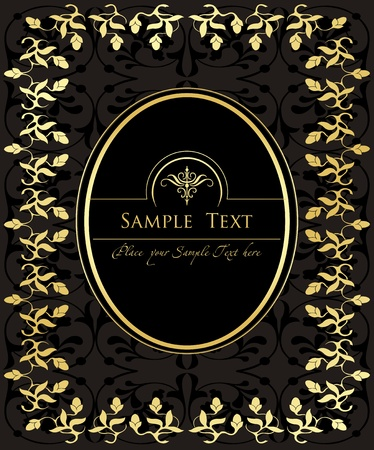 rococo: Vector Vintage background for book cover or card Illustration