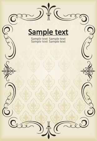 free vintage background: Vector Vintage background for book cover or card Illustration