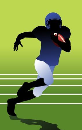 scramble: American football player