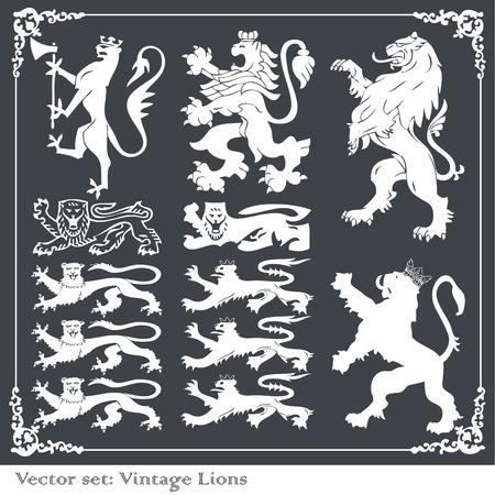 lion wings: Conjunto de elementos her�ldicos