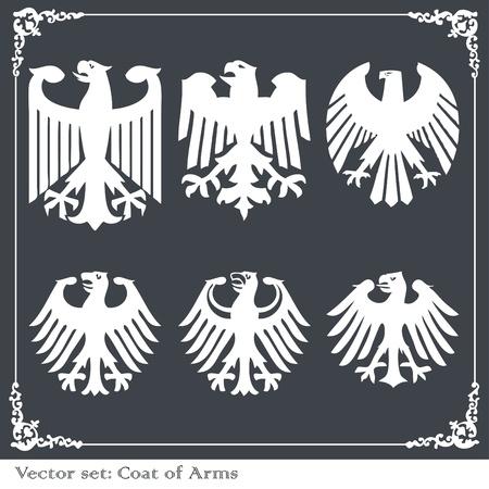Heraldic eagles set vector background Stock Vector - 10322121