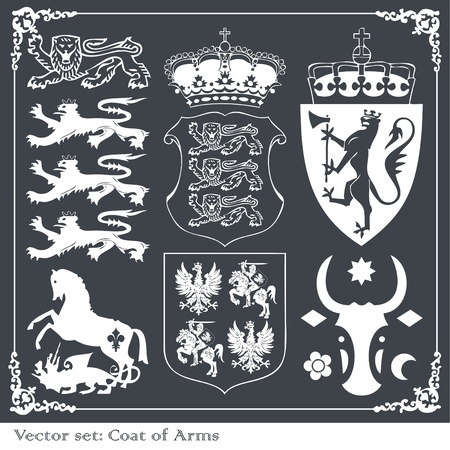 architectonic: Heraldic elements set Illustration