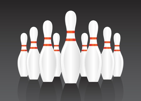Bowling pin background Vector