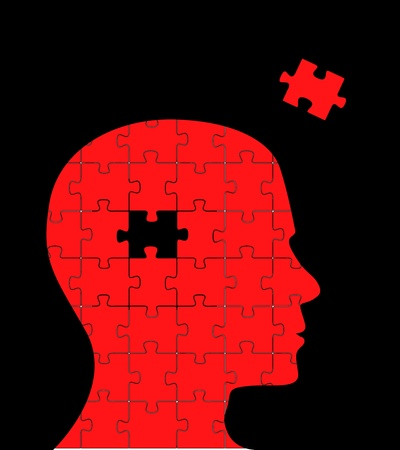 mental illness: Puzzle head