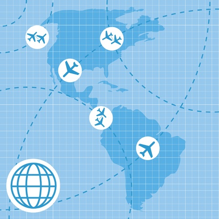 Air travel map background