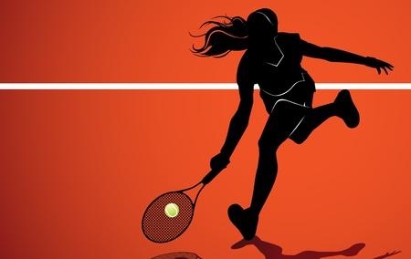 liveliness: Tennis player