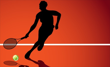 liveliness: Tennis player  Illustration