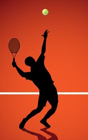 tennis: Joueur de tennis.  Illustration
