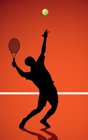 tennis shoe: Tennis player  Illustration