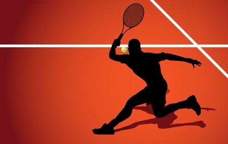 Tennis player  Stock Vector - 10330801