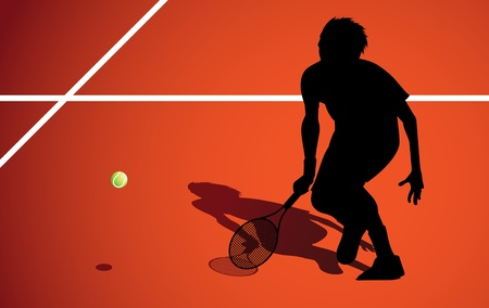 Tennis player   Stock Vector - 10330799