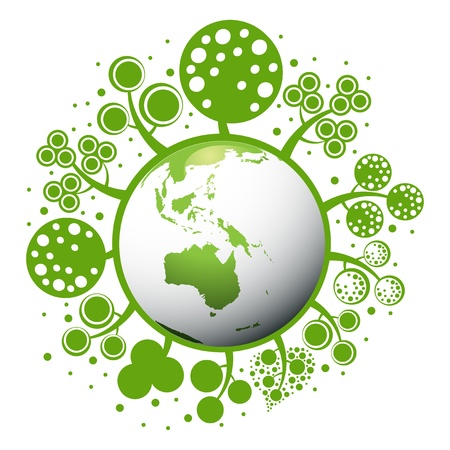 green planet: un concept plan�te verte Illustration