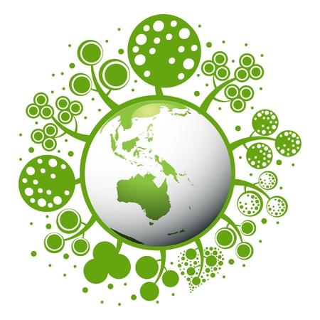 planeta tierra feliz:  un concepto de planeta verde