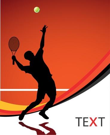 tenis: Jugador de tenis ilustraci�n de fondo