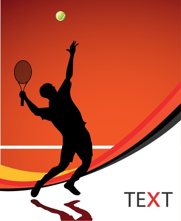 Tennis: Tennis-Spieler Hintergrund Illustration Illustration
