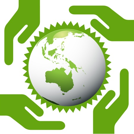 Environmental concept with earth globe eco planet Vector