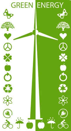 Eco Green Turbines  Vector