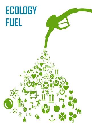 Duurzame biobrandstoffen ecologisch concept Vector Illustratie
