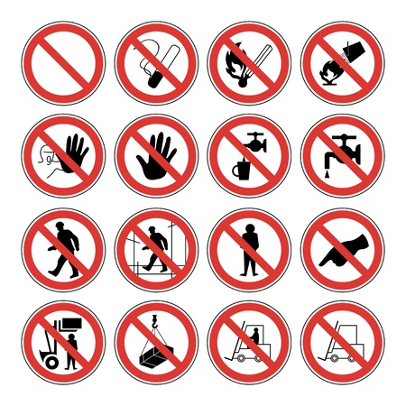 Set of forbidden signs  Stock Vector - 10330724