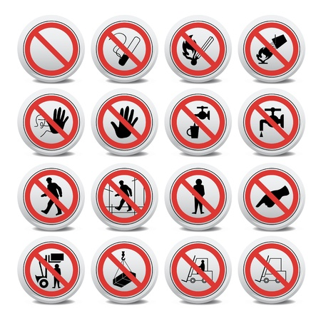 Set of forbidden signs Stock Vector - 10330731