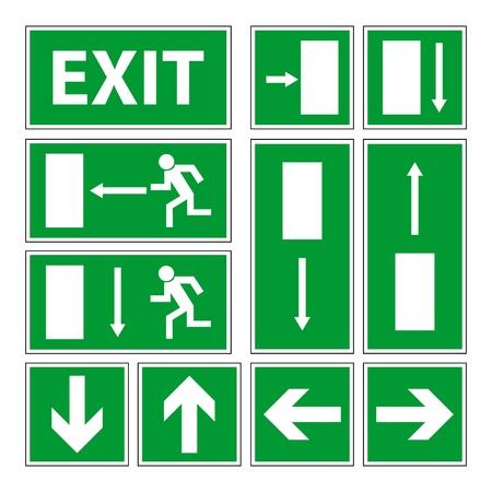 evacuatie: Exit borden set