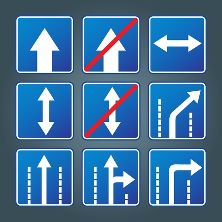 Traffic signs group  Vector