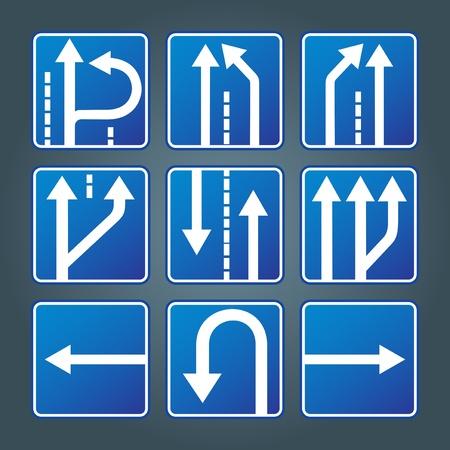 panneaux danger: Trafic signes groupe