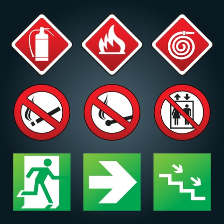 emergency exit icon: Exit signs