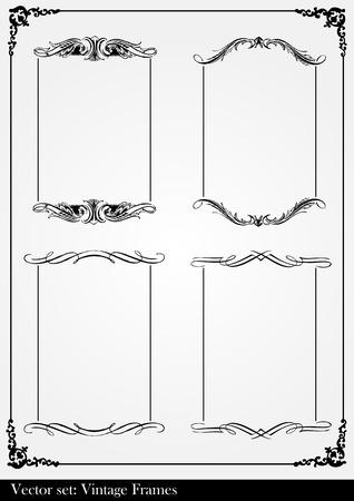 Vintage frames and elements collection background illustration Stock Vector - 10337219