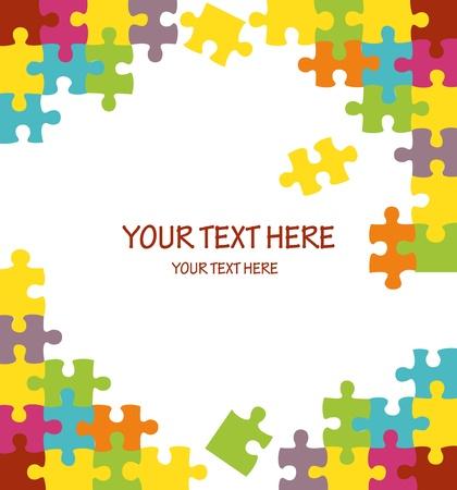 인내: 빈티지 다채로운 퍼즐 배경 그림
