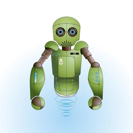 Cute army robot vector Stock Vector - 10339038