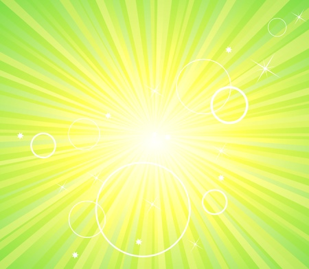 Abstract green ecology light background Vector