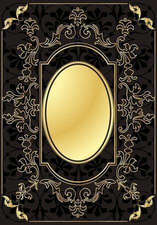 Vintage frames and elements background illustration Stock Vector - 10337208