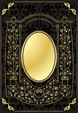 Vintage frames and elements background illustration Stock Vector - 10337211