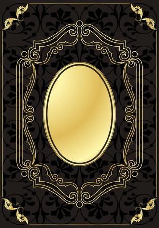 Vintage frames and elements background illustration Stock Vector - 10337203