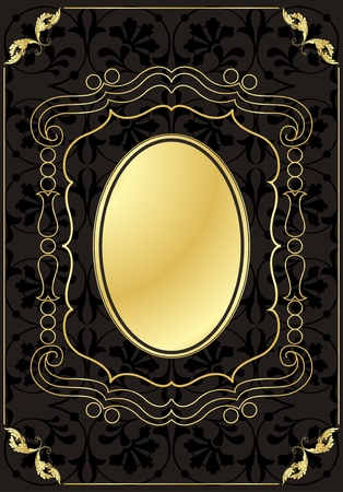 Vintage frames and elements background illustration Stock Vector - 10337202