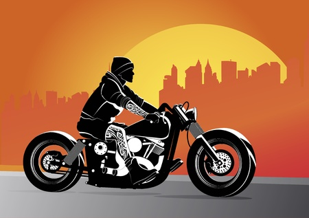 moto: Motorcycle vector background illustration