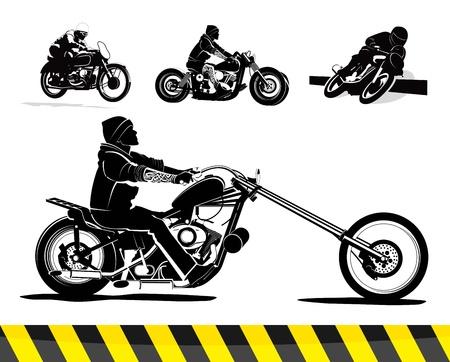 Vintage background illustration vectorielle de moto