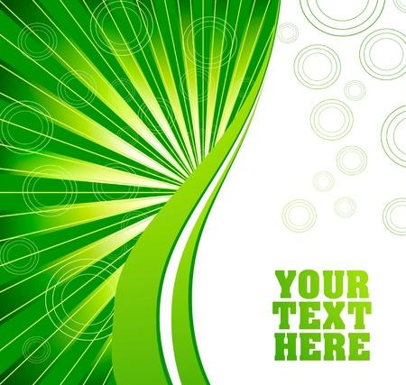 green tone: Ecology wave background illustration