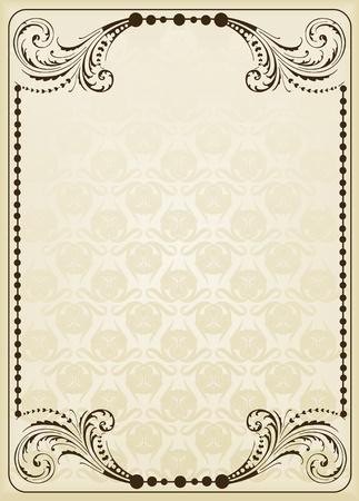 label: Vintage frames en elementen achtergrond afbeelding