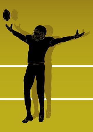sports equipment: American football player background Illustration