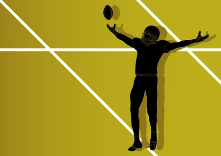 American football player background Illustration