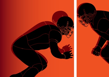 scramble: American football player background Illustration