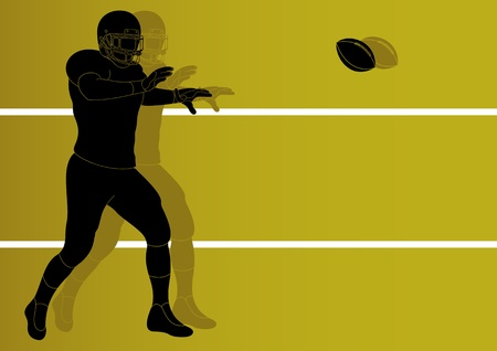 tackling: American football player background Illustration