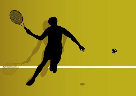 tenis: Tennis player background