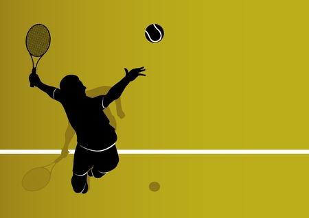 Tennis player background Vector