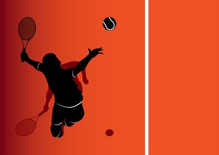 tennis racquet: Fondo de jugador de tenis Vectores