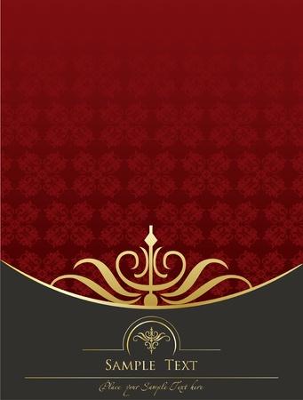 wine label design: Vintage frames and elements background illustration Illustration