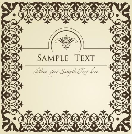 textile design: Vintage royal floral background illustration