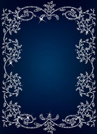black silk: Vintage royal floral background illustration